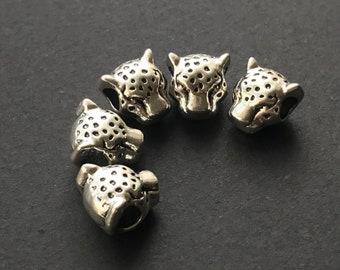 """Metallperle /""""Leopard/"""" 1 Stk - Antik Gold 10 x 10 mm"""