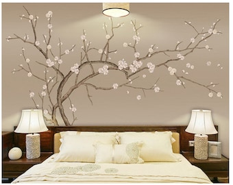 Tree wall mural Etsy