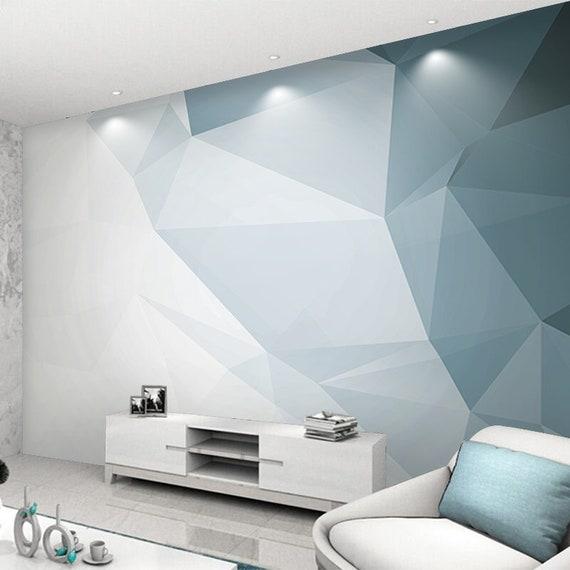 Modern Geometric Stereoscopic Wallpaper Wall Mural Imaginary Geometric Wall Mural High Quality Simple Modern Wall Mural Wall Decor