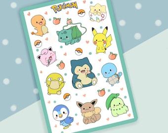 Pastel Pokemon Sticker Sheet