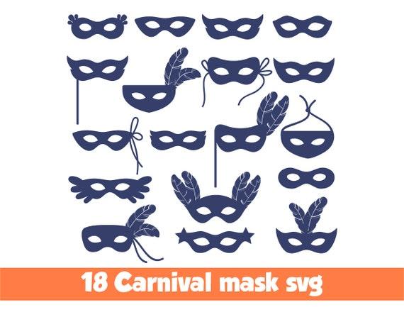 Karneval Maske Svg Karnevalsmaske Svg Maske Karneval Svg Maske Etsy