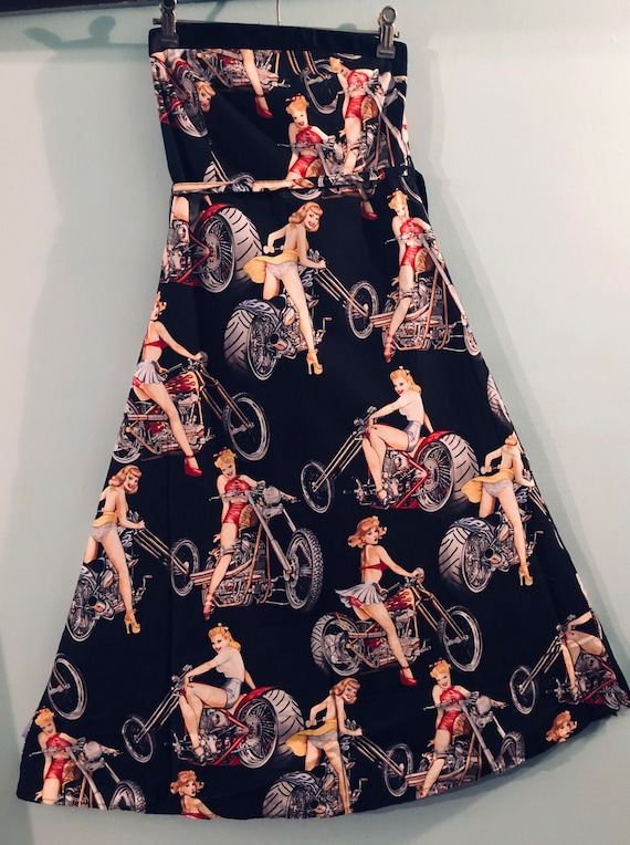Pinup Girls Strapless Dress. Size XS