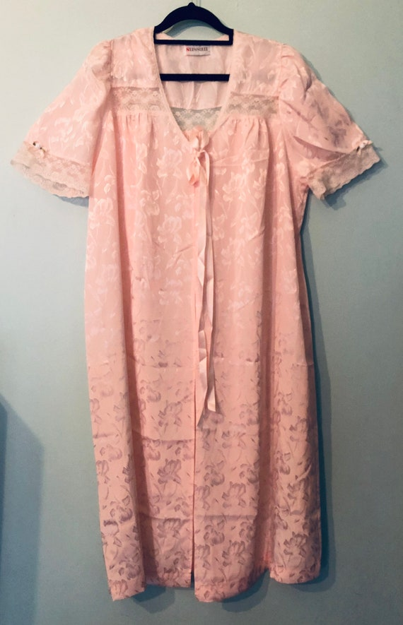 80s pink night gown size 12