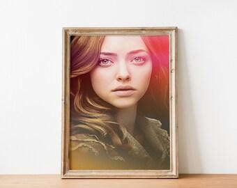 AMANDA SEYFRIED Celebrity GIFT WALL DECOR  ART POSTER A3 Size