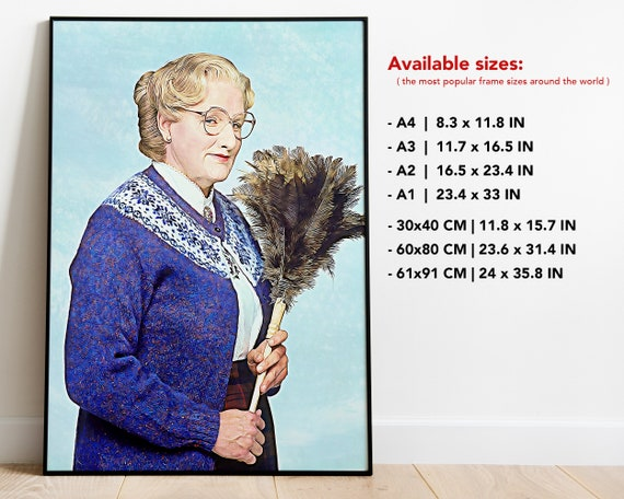 A3//A4 Size MRS DOUBTFIRE 1993 MOVIE  ROBIN WILLIAMS  ART PRINT POSTER  # 10