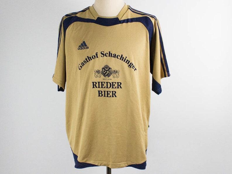 Nineties TopGerman ShirtLate T VintageBeige Football SleevesSize ColorTeam And Adidas TeamShort L Blue Vintage dBoeWQCxr
