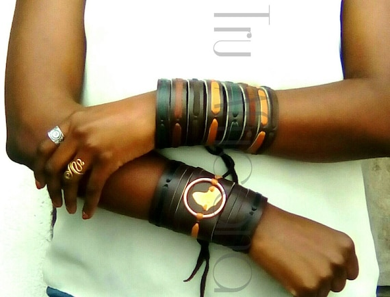African Maasai Cuff Bracelet, Men's leather Bracelet, Women Leather Bracelet, Kenyan Men's Bracelet, African jewelry, Tribal Bracelet.