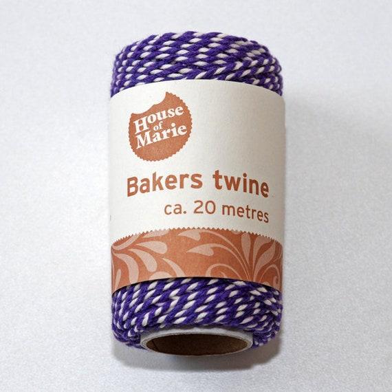 rosa // wei/ß Bakers Twine 50 m Rolle B/äckergarn Baumwoll Garn Deko Schnur Kordel farbig Geschenkband Packband