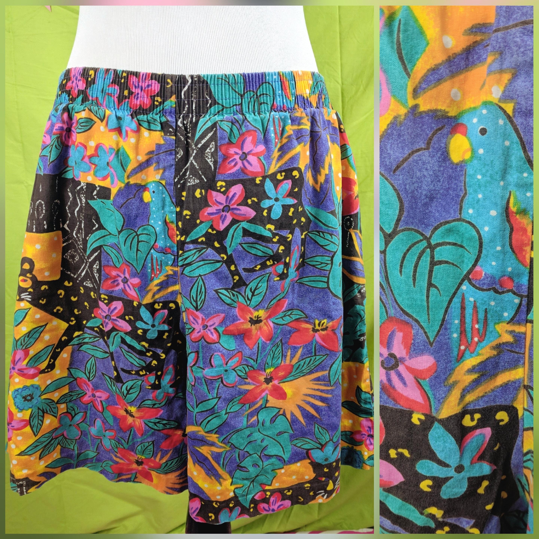 2062e9ac423fc Vintage 80s Hilo Hattie Brand Hawaiian Multiprint Shorts   Etsy