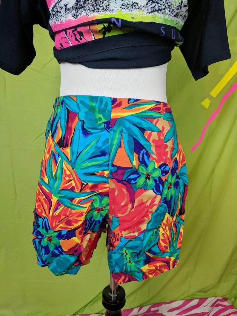 4d67bdaa8f631 Vintage 80s 90s Hilo Hattie Brand Neon Hawaiian Women's   Etsy