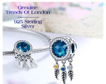 DREAM CATCHER Charm Trends Of London™ 925 Sterling Silver & Cubic Zirconia (cz)