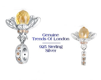 QUEEN BEE Charm Trends Of London™ Solid 925 Sterling Silver and CZ Stones