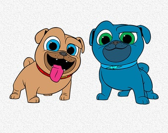 Puppy Pals Vector Etsy