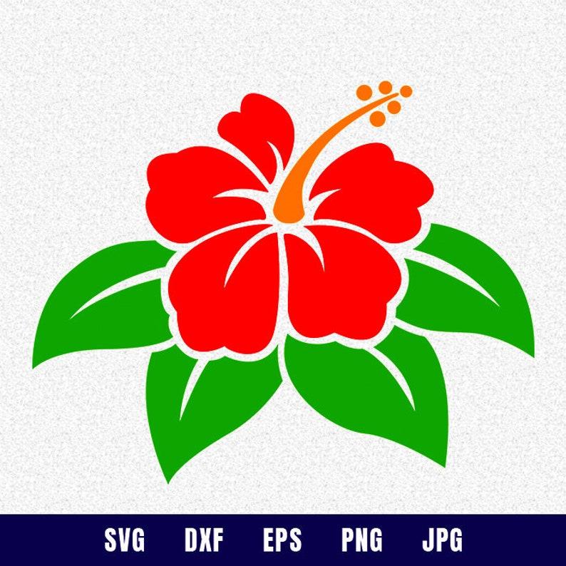 Hibiscus Clip Art Hibiscus Svg Hibiscus Flower Svg Flower Etsy