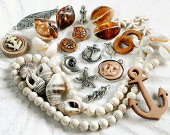 Ibiza jewelry Seahorse Beachtime unique summer chain hippie beach chain Long necklace mermaid martitim boho jewelry begging necklace