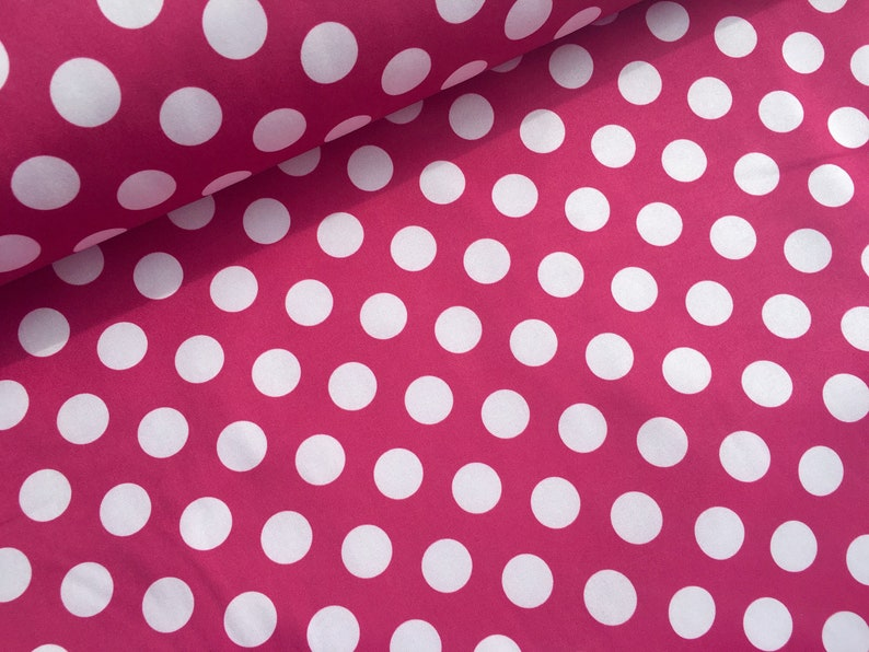 2f826c1a27420 Softshell dots pink white fabric for soft shell jacket wind