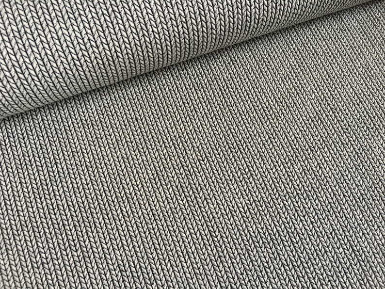 def960deaa4d23 Albstoffe Knit Knit jacquard grey black mono light