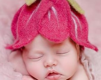 Baby hat flower for baby photography for girls