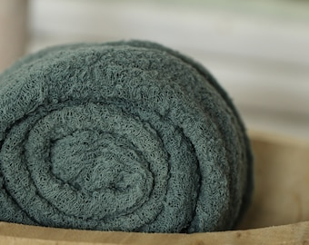 double length Gots certified cotton wrap solid color anoint green