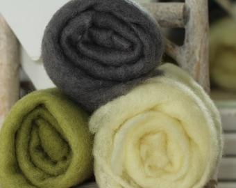 Felt wool layer newborn photo underlay hand dyed