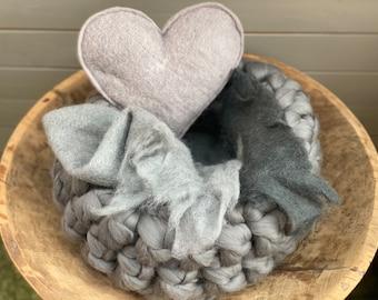 Wool Basket Newborn Photography Sage