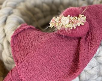 Wool basket Newbornphotography bright grey /melliert