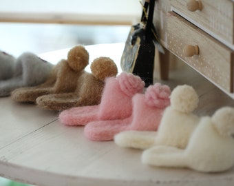Small Felted Slippers Photoprop Newborn Photography