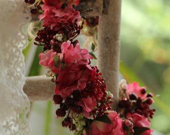 Flowers - Head wreath wedding / photoshooting / headdress / vintage look