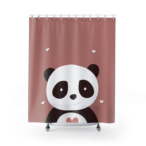 Panda Shower Curtains Girls Bathroom Decor
