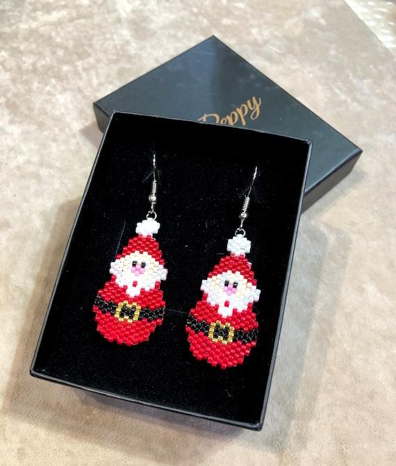 Father Christmas Earrings, Santa Claus Earrings, Christmas Party Earrings