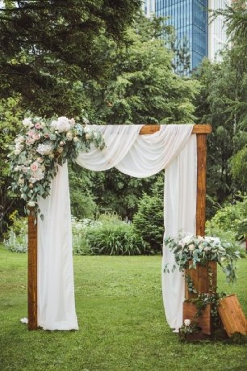 Rustic Wedding Arch.Sand Ceremony For Wedding Rustic Wedding Shower Decoration Boho Cheesecloth Table Runner Wedding Arch Draping Gauze Chiffon