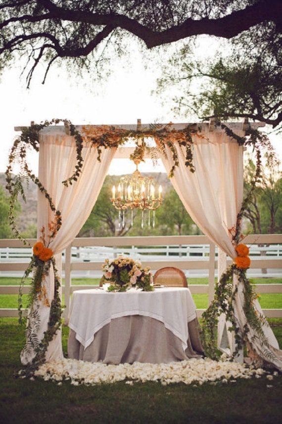 Prime Sand Ceremony Arch Wedding Decor Winter Wedding With Gauze Table Runner Cheesecloth Cotton Runner Bridal Centerpieces Runner Download Free Architecture Designs Remcamadebymaigaardcom