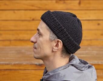 Mens Hand Knit Hat Mens Hand Knit Beanie Mens Knit Hats Mens Beanie Man Beanie Mens Oatmeal Beanie Hat Mens Toque Knit Hat Men Beanies