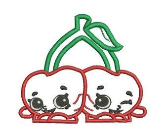 6 Sizes   Shopkins Applique Design, Cheeky Cherries Shopkins Embroidery  Design, Cherry Applique, Character Applique, Instant Download