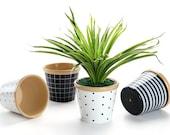 5 inch ceramic planters Decorative Ceramic Planter Container Christmas Gift Idea