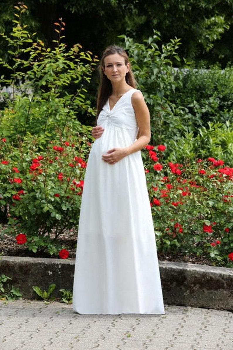 Maxi-circumstance Brautkleid wedding chiffon White image 0