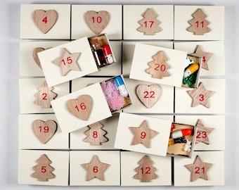 Advent calendar, advent calendar filled, filling, saying. Men,Women,Best Friend,Boyfriend,Wife,Paper Advent Calendar,Advent,Love