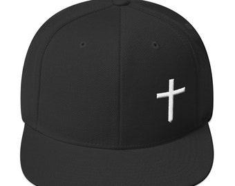 a40bb00d744 Christian Cross Logo Wool Blend Snapback Hat