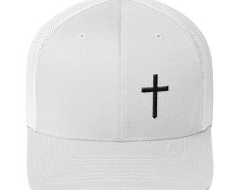 6bc6d92243b Christian Cross Logo Retro Trucker Hat