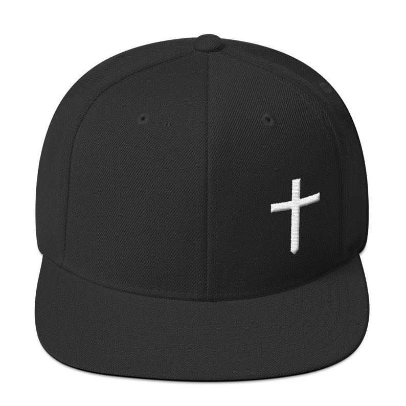 e465d2e77 Christian Cross Logo Wool Blend Snapback Hat