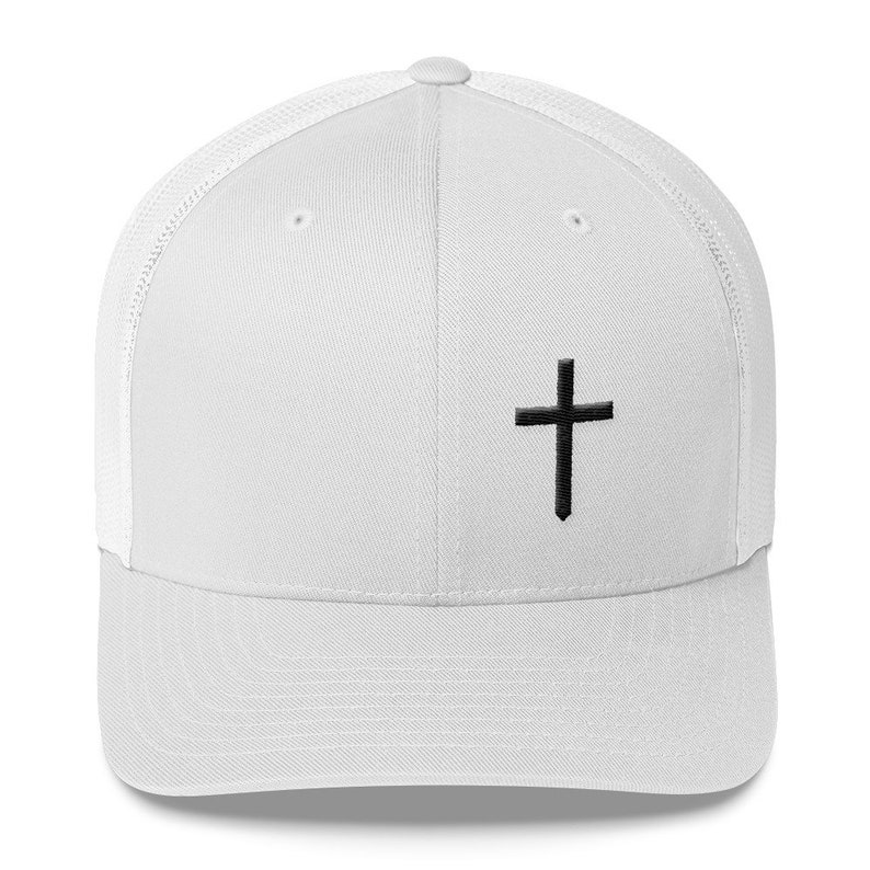 65df86434 Christian Cross Logo Retro Trucker Hat