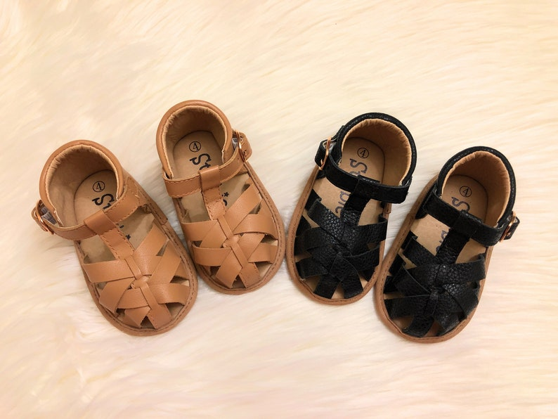 280e646f56bfe Baby Soft-Sole Sandals, Closed Toe Baby Sandals, Toddler Sandals, Baby Girl  shoes, Baby Leather Shoes, Toddler Sandals for Boys & Girls