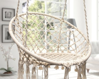 Beige, Hanging Chair   Swinging Chair   Swinchair   Hammock Chair