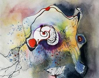 Amoeba painting abstract decorative