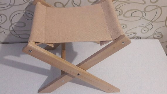 Awe Inspiring Small Folding Stool Wooden Garden Stool With Fabric Seat Small Portable Folding Stool Outdoor Folding Stool Machost Co Dining Chair Design Ideas Machostcouk