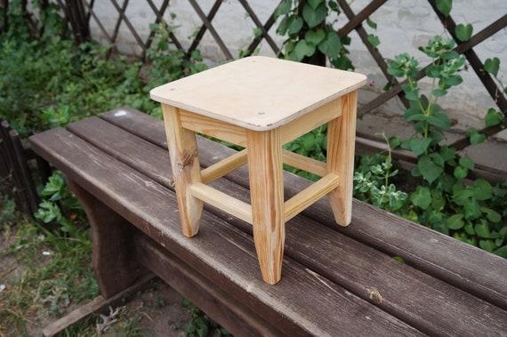 wooden stool for kids, square stool, kids stool, kids seat, bedroom stool,  handmade chair, small stool, mini stool, kids furniture