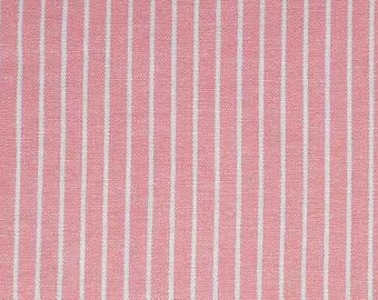 1 metre With Additional 50cm Fabric Stripes Linen Viscose Mix