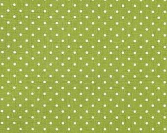 Cotton fabric small dots Petite Dots, white yellow green