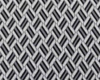 Jersey fabric jacquard knitted jersey graphic pattern, cream grey black