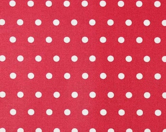 coated cotton dots 6 mm, white on red
